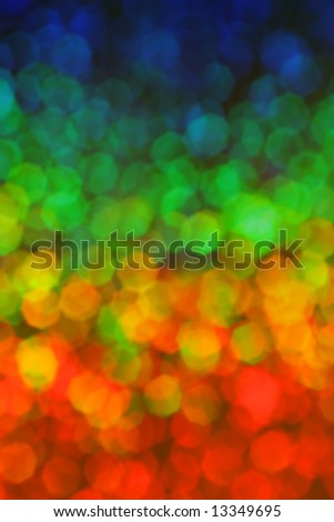Colorful hexagon background in rainbow colors - stock photo