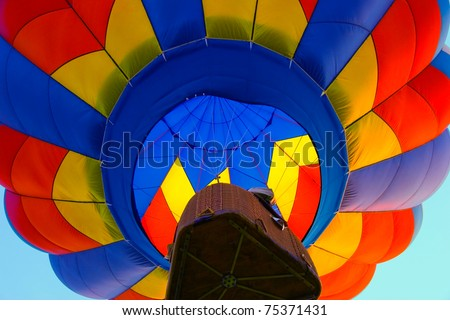 colorful hot air balloon - stock photo
