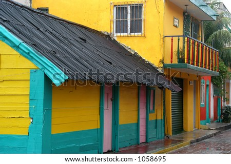 Colorful House in Mexico - stock photo