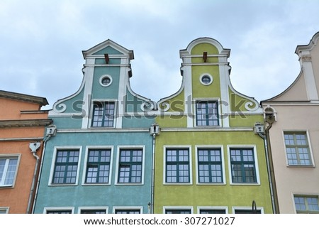 Colorful houses in Gdansk, Poland - stock photo