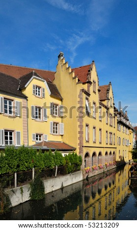 Colorful houses of Colmar in Alsace, France. - stock photo