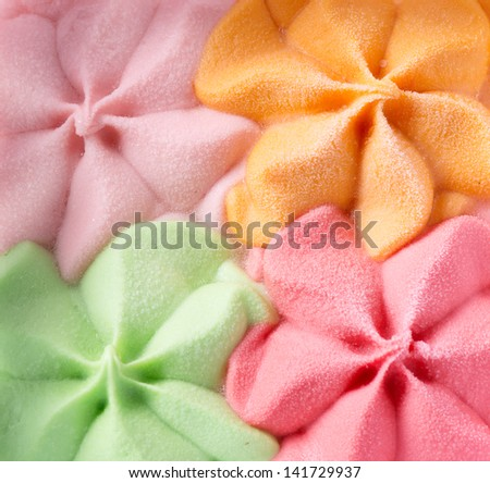 Colorful Ice Cream Background. Various Flavours - stock photo