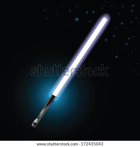 colorful illustration with light saber for your design - stock photo