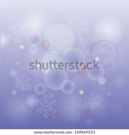 colorful illustration with  snow  background for your design - stock photo