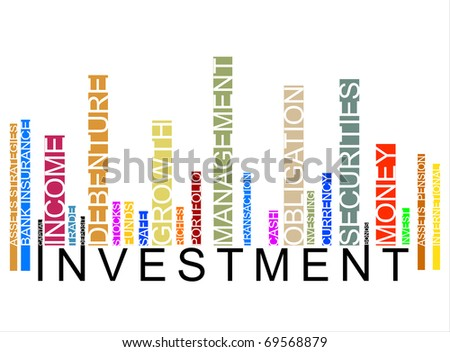 colorful investment bar code - stock photo