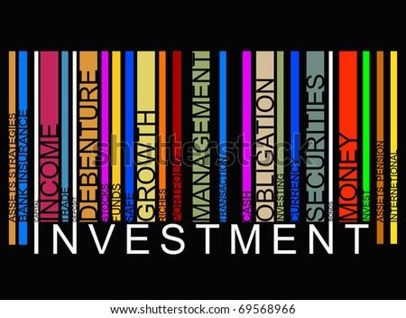 colorful investment  bar-code - stock photo