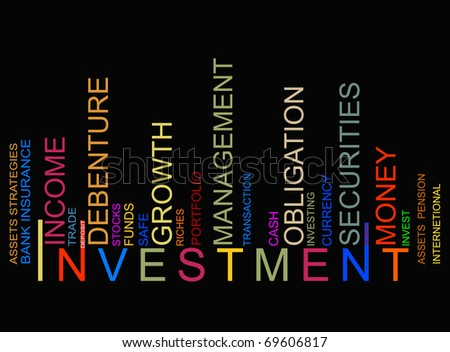 colorful investment bar codetor - stock photo