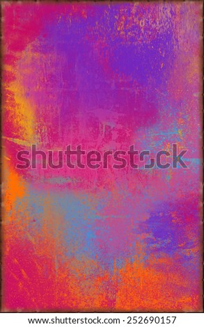 Colorful Jolly Texture with Rusty Seams Along Edges (Part of Vibrant Metal Textures set, which includes 12 textures that fit together perfectly to form a huge image. No noise, even lighting) - stock photo