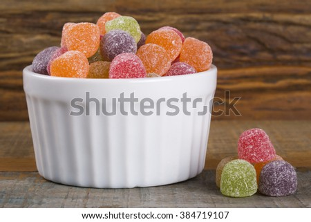Colorful Jujube Candy/ Jujube Candy/ Colorful Jujube Candy - stock photo