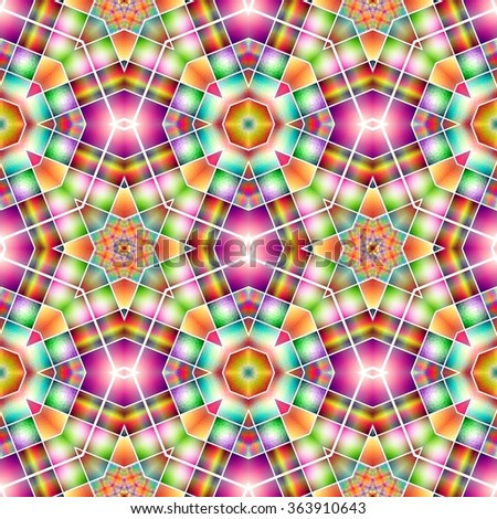Colorful kaleidoscope pattern. Abstract background ideal for wallpaper pattern and other work. - stock photo
