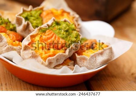 Colorful karelian pies - stock photo