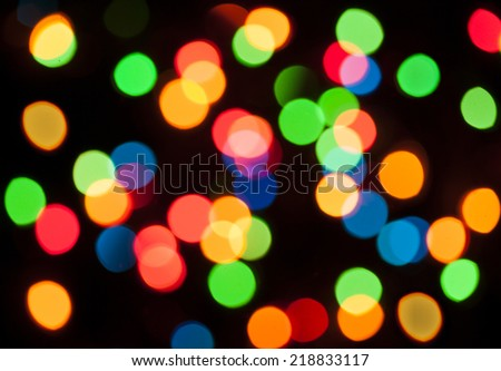 Colorful lights christmas background - stock photo