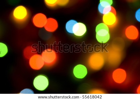Colorful  lights for Christmas background - stock photo