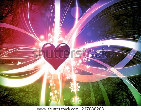 colorful love abstract valentine background illustration - stock photo