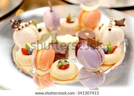 colorful macarons - stock photo