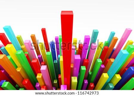 Colorful many stat, stick - stock photo