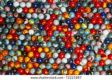 Colorful marble collection - stock photo