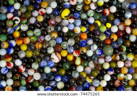 Colorful marble collection. - stock photo