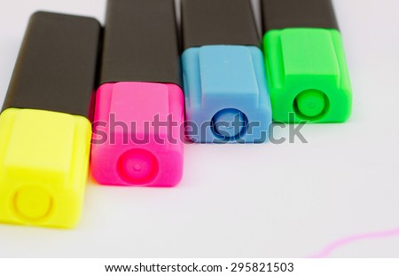 Colorful markers pens - stock photo