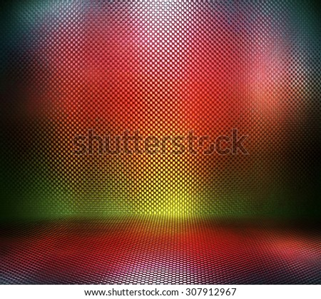 Colorful metal plate - stock photo