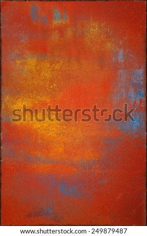 Colorful Metal Texture with Rusty Seams Along Edges (Part of Colorful Metal Textures set, which includes 12 textures that fit together perfectly to form a huge image) - stock photo