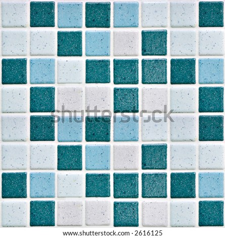 colorful modern mosaic tile in a bathroom - stock photo