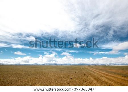 Colorful mountain landscape - stock photo