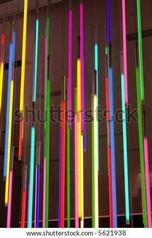 Colorful neons. - stock photo