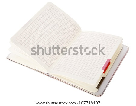 Colorful notepad on white background, with clipping path - stock photo