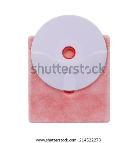 Colorful of CD sleeve on white background - stock photo