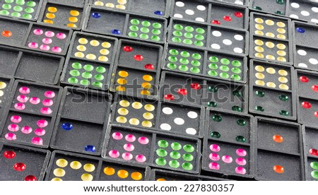 colorful of dominos - stock photo