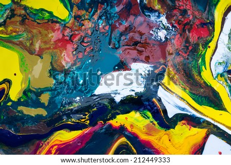 colorful of primary colors mix - stock photo