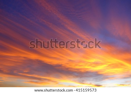 Colorful of sky in the morning:un-focus,image blur:ideal use for background. - stock photo