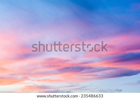 colorful of sky with clouds in the evening - stock photo