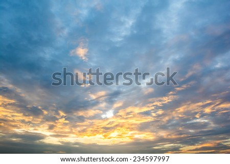 colorful of sky with clouds in the morning - stock photo