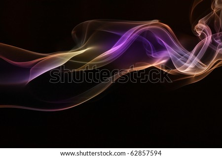 Colorful of Smoke. - stock photo