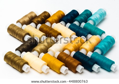 colorful of threads backgrounds.Sewing threads multicolored - stock photo
