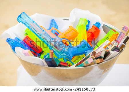 colorful of Water Gun - stock photo