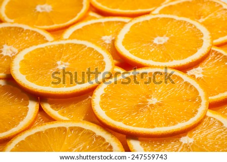 Colorful orange citrus fruit slices background - stock photo