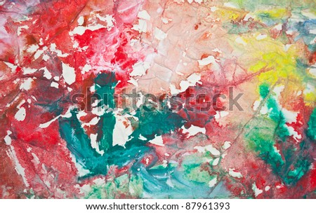 Colorful painting background - stock photo
