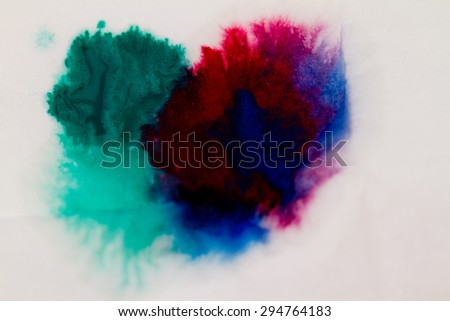 Colorful paints on the wall - abstract photo - stock photo