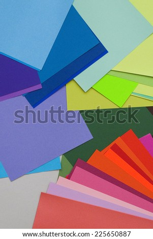 colorful paper  - stock photo