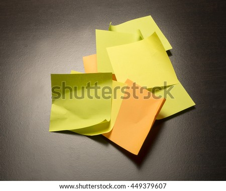 Colorful paper for making notes/Sticky Paper/Office supply for memos and reminders - stock photo