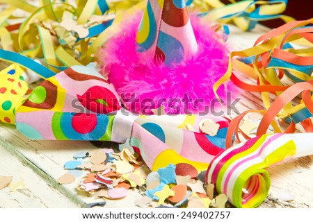 Colorful party article - stock photo