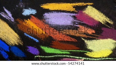 Colorful pastel drawing background - stock photo
