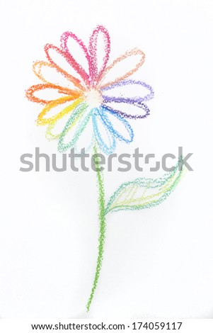 Colorful pastel flower - stock photo