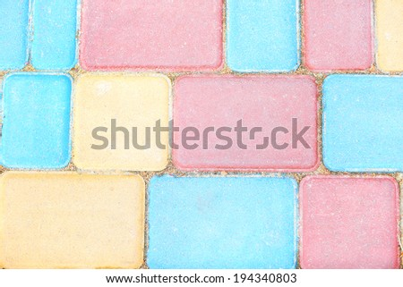 Colorful pavement background - stock photo