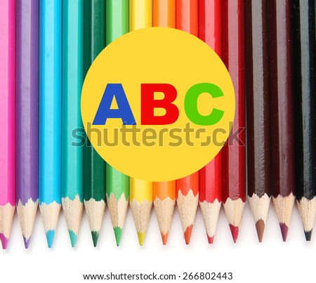 Colorful pencils, close-up - stock photo