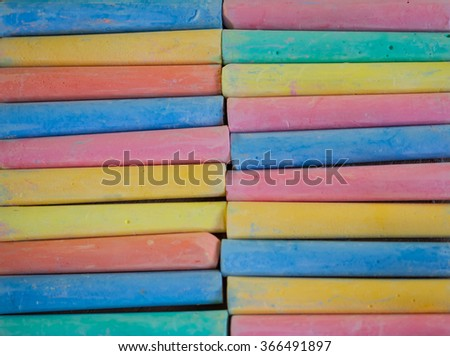 colorful pieces of chalk.textures and background - stock photo