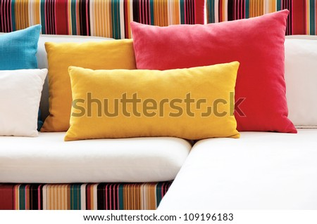colorful pillow - stock photo